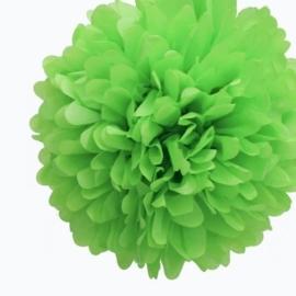 Pompom lime groen 35 cm
