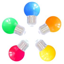 Led lampen Kleur mix - 5 stuks