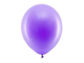 Ballon pastel kleur paars 30 cm - 10 stuks