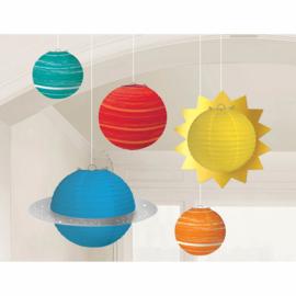 Lampionnen planeten 5 stuks