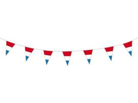 Vlaggenlijn rood wit blauw vlaggetjes 10 meter