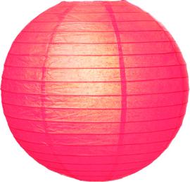 Fuchsia roze lampionnen 20 cm