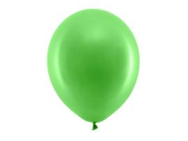 Ballon pastel kleur groen 30 cm - 10 stuks