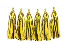 Tassel slinger goud