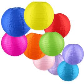 Nylon buiten lampionnen kleurmix 10 stuks