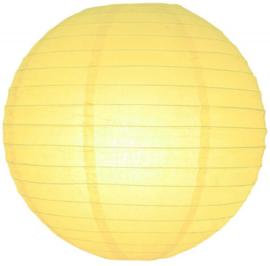 Licht gele lampionnen 20 cm