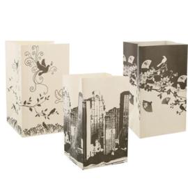 Candlebags print zwart/wit 3 stuks.