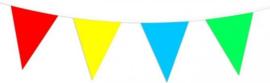 Vlaggenlijn gekleurde vlaggetjes 10 meter