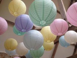 Lampionnen pakket pastel - 18 stuks
