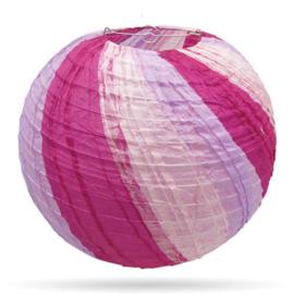 Paarse lampion meer kleurig 35 cm