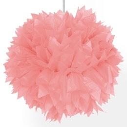 pompon zalm roze 35 cm
