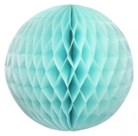 Honeycomb bollen Turqoise - 32 cm