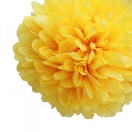 Pompon geel 20 cm