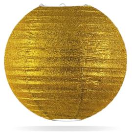 Glitter lampion goud 45 cm