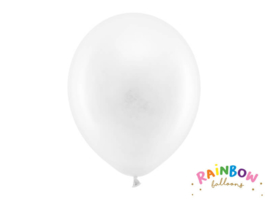 Ballon pastel kleur wit 30 cm - 10 stuks