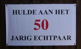 Banner 50 jarig huwelijk.