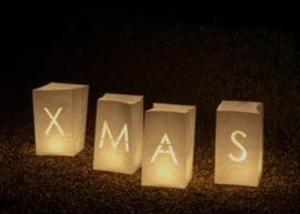 Candlebags woord set XMAS - groot