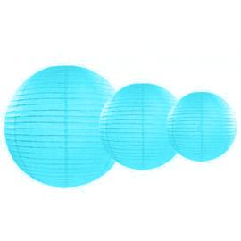 Lampionnen pakket 35 licht blauwe lampionnen