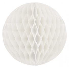 Honeycomb bollen Wit ( off white ) - 32 cm