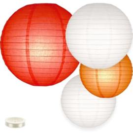 Lampionnen pakket rood - 35 lampionnen