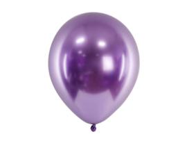 Chroom ballonnen paars 30 cm - 10 stuks