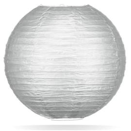 Zilver kleur lampionnen 20 cm