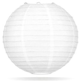 Witte lampionnen 25 cm