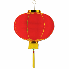 Rode Chinese lampion nieuwjaar 35 cm