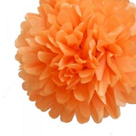 Pompon oranje 20 cm