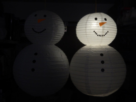 Lampion sneeuwpop