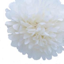 Pompon wit 20 cm