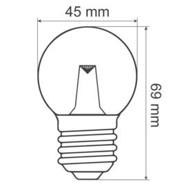 Prikkabel 100 meter compleet met led lampen