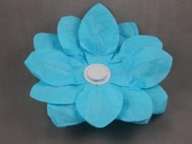 Waterlantaarn lotusbloem blauw 30 cm