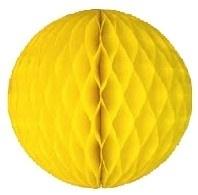 Honeycomb bollen Geel - 32 cm