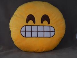 Emoji kussentje grijns