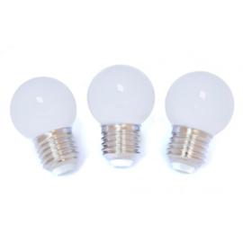 10 witte buiten lampionnen + prikkabel led verlichting