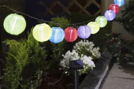 Solar lampionnen slinger kleur mix - 450 cm