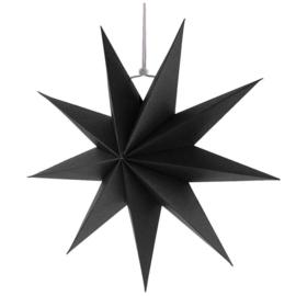 Zwarte kerst sterren met 9 punten