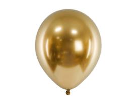 Chroom ballonnen goud 30 cm - 10 stuks