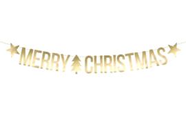 Letterslinger Merry Christmas goud
