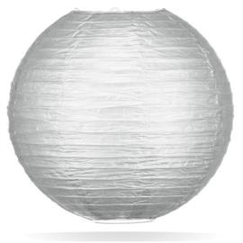 Zilver kleur lampionnen 35 cm