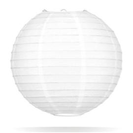 Witte lampion 45 cm