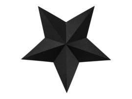 3D zwarte kerststerren DIY decoratie pakket - 6 stuks
