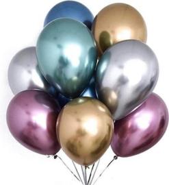 Chroom ballonnen mix 10 stuks
