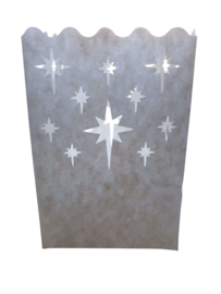 Candlebag kristal star midi 10 stuks