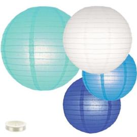 Lampionnen pakket blauw - 35 lampionnen