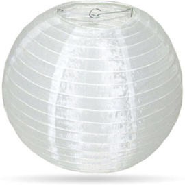 Witte lampion nylon buiten 35 cm