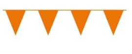 Vlaggenlijn oranje vlaggetjes 10 meter