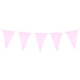Vlaggenlijn roze vlaggetjes 10 meter