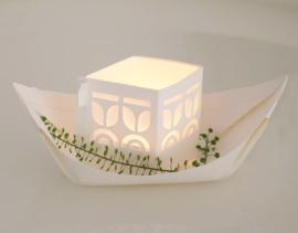 Varende lichtbootjes wit - 3 stuks